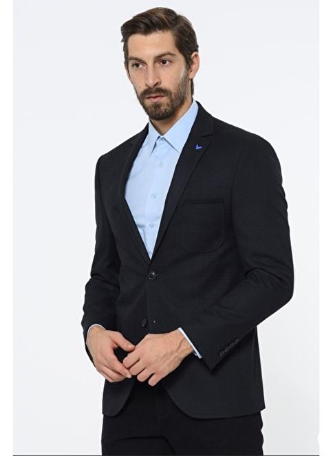 Comienzo Slim Fit Blazer Ceket Lacivert
